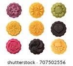 handmad mooncake isolated on... | Shutterstock . vector #707502556