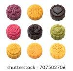 handmad mooncake isolated on... | Shutterstock . vector #707502706