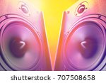 hi end loudspeakers. party... | Shutterstock . vector #707508658