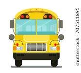 vector drawing school bus flat... | Shutterstock .eps vector #707511895