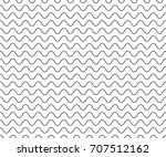 black wave line pattern. black... | Shutterstock .eps vector #707512162