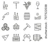 wine outline icon set. winery... | Shutterstock . vector #707522038