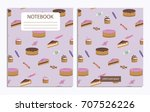 notebook with sweet pattern | Shutterstock .eps vector #707526226