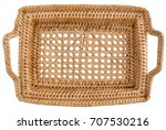 Top View Of  Square Basket Tra...