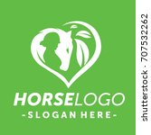 green horse logo vector | Shutterstock .eps vector #707532262