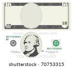 american dollar | Shutterstock .eps vector #70753315
