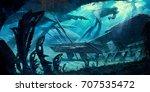 digital illustration of science ...   Shutterstock . vector #707535472