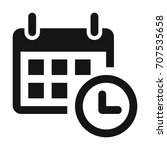 calendar clock icon. reminder... | Shutterstock .eps vector #707535658