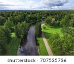 top view of parks in st.... | Shutterstock . vector #707535736