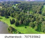 top view of parks in st.... | Shutterstock . vector #707535862