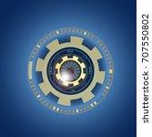 futuristic  eye effect for... | Shutterstock .eps vector #707550802