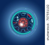 futuristic  eye effect for... | Shutterstock .eps vector #707551132