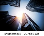 look up to the sky with... | Shutterstock . vector #707569135
