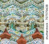 symmetry detail of main pagoda... | Shutterstock . vector #707570638