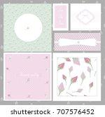 wedding card templates set.... | Shutterstock .eps vector #707576452