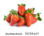 juicy strawberries isolated on... | Shutterstock . vector #70759147