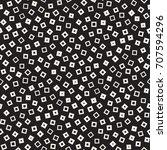 seamless primitive jumble... | Shutterstock .eps vector #707594296