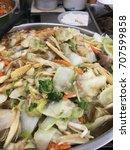 food  thai stye in shop close. | Shutterstock . vector #707599858
