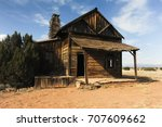 Old Clapboard Building Or Hous...