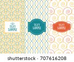 three retro chic seamless... | Shutterstock .eps vector #707616208