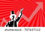 capitalism in propaganda  | Shutterstock .eps vector #707637112