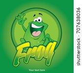 frog character illustration   Shutterstock .eps vector #707638036