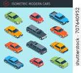isometric cars collection with... | Shutterstock .eps vector #707640952