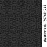 vintage seamless black... | Shutterstock .eps vector #707654218