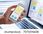 mobile responsive website... | Shutterstock . vector #707654608