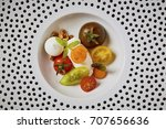 beautiful and tasty food on a... | Shutterstock . vector #707656636