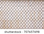 old fence rusty mesh | Shutterstock . vector #707657698