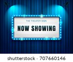 theater sign on curtain with... | Shutterstock .eps vector #707660146