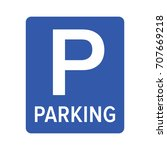 parking or park sign for cars   ...   Shutterstock .eps vector #707669218
