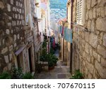 Narrow Old Street With Stones...