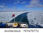 Behind The Ice Breaking Ship...