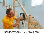 installation wizard for wooden... | Shutterstock . vector #707671252