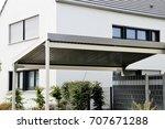 aluminium carport on...   Shutterstock . vector #707671288
