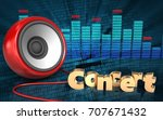 3d illustration of speaker over ...   Shutterstock . vector #707671432