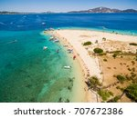 aerial view of marathonisi... | Shutterstock . vector #707672386