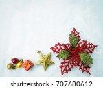 beautiful christmas decoration... | Shutterstock . vector #707680612