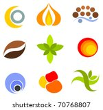 set of colorful vector icons...