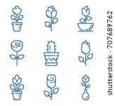 flowers icon set | Shutterstock .eps vector #707689762