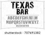 vintage font alphabet... | Shutterstock .eps vector #707691382