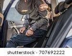 arresting a thief  a criminal ...   Shutterstock . vector #707692222
