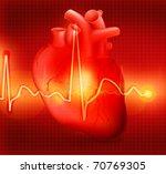 heart cardiogram  eps10 | Shutterstock .eps vector #70769305