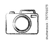 photographic camera icon | Shutterstock .eps vector #707701075