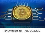 3d illustration of bitcoin over ...   Shutterstock . vector #707703232