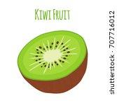 tropical fruit  exotic kiwi....   Shutterstock .eps vector #707716012