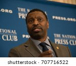 Small photo of WASHINGTON,DC - AUGUST 29, 2017: NAACP Interim President and CEO Derrick Johnson speaks to a headliners luncheon at the National Press Club