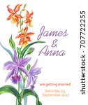 wedding invitation with a... | Shutterstock . vector #707722255